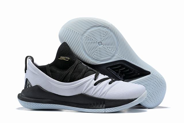 Curry 5 Shoes White Black